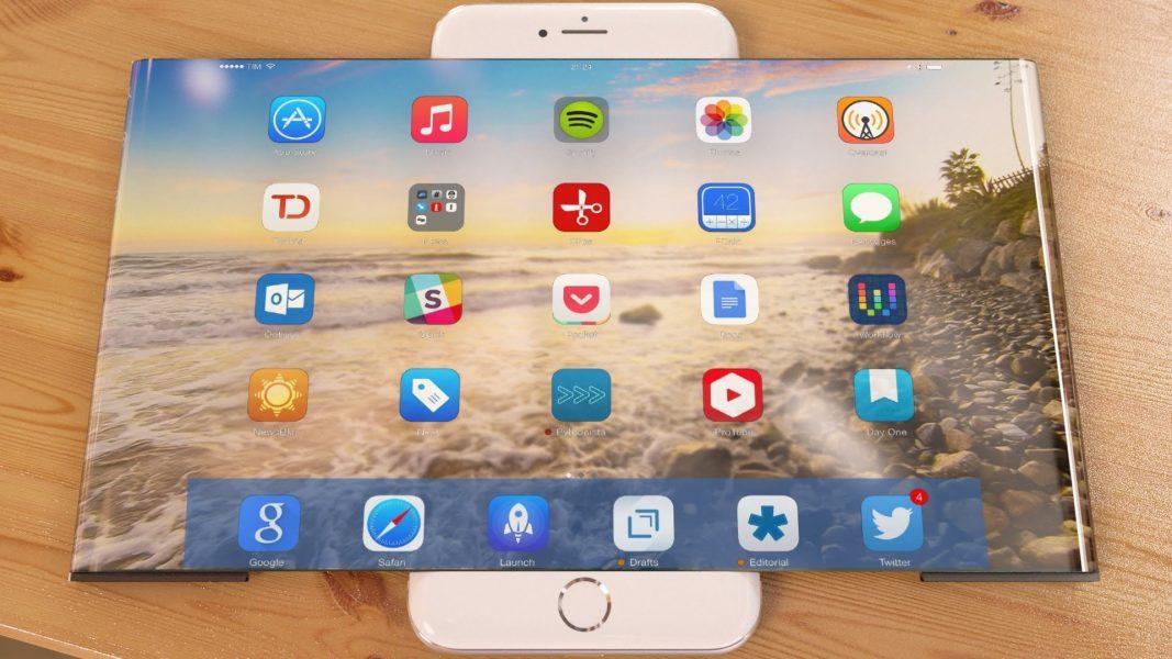 Фантастический Концепт iPhone 7 с раскладным экраном Гаджеты  - Fantasticheskij-Kontsept-iphone-7-s-raskladnym-ekranom