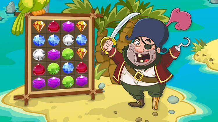 Сокровища Пиратов для Android Казуальные  - 1.-750