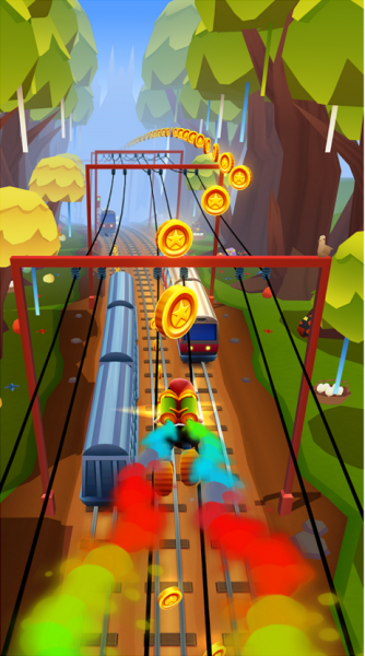 Subway Surfers на Android Аркады  - 3-4