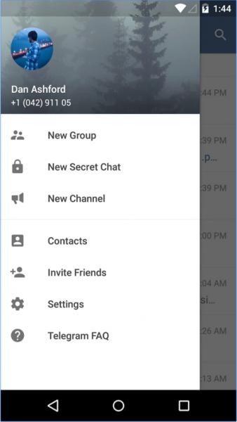 Telegram Messenger для Android Интернет  - 2-13