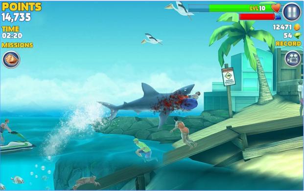 Hungry Shark Evolution для Android Аркады  - 2-15