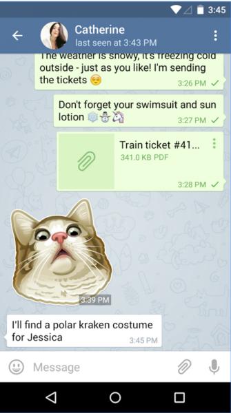 Telegram Messenger для Android Интернет  - 3-7