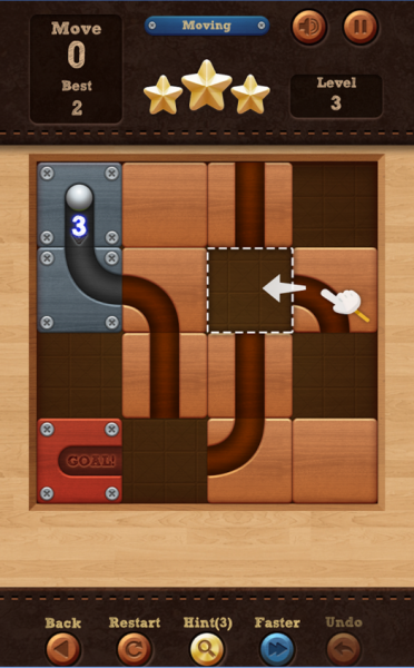 Roll the Ball: slide puzzle для Android Логические игры  - 3-9