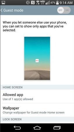 Как включить гостевой режим на андроиде? Приложения - 20140812_lgg3guestmode_2