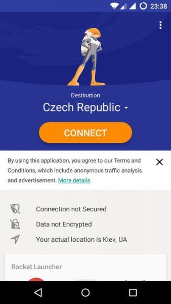 Как настроить VPN сеть на андроиде ? Приложения  - rocket-vpn-1