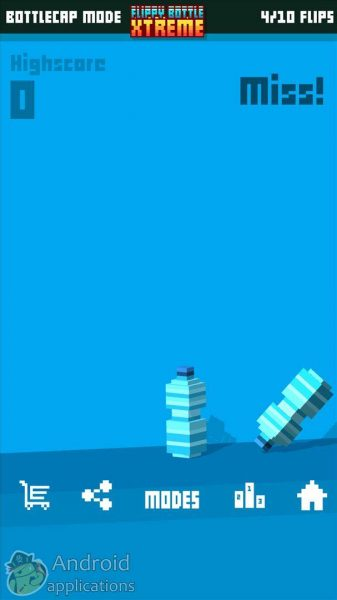 Flippy Bottle Extreme! для Android Аркады - 1476366294_flippy-bottle-extreme-1