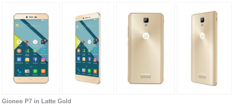 Gionee P7 — бюджетный смартфон с HD экраном Мир Android  - 3gionee_p7_gold.-750