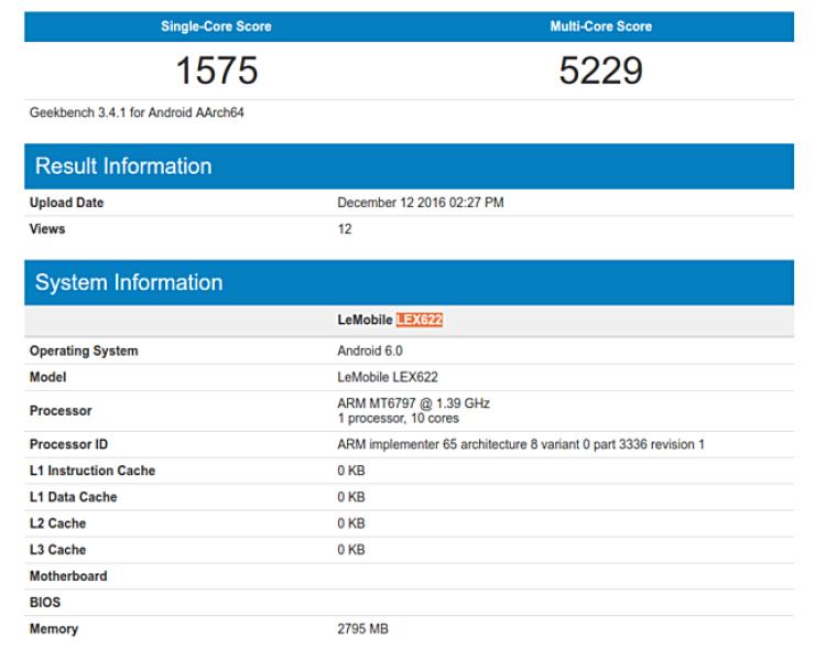 LeEco LeX622 - новый смартфон, показался в Сети Мир Android  - leeco-lex622.-750