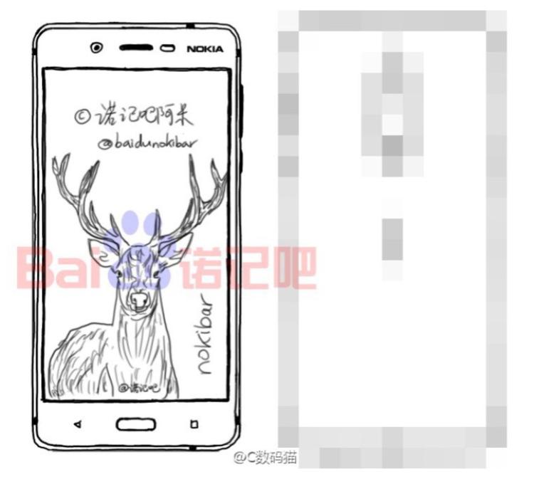 Безрамочный Nokia D1C с Android Nougat Другие устройства  - sketch-of-the-high-end-variant-reveals-a-front-facing-fingerprint-scanner.-750