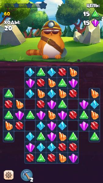 Viber Diamond Rush для Android Казуальные  - viber-diamond-rush2
