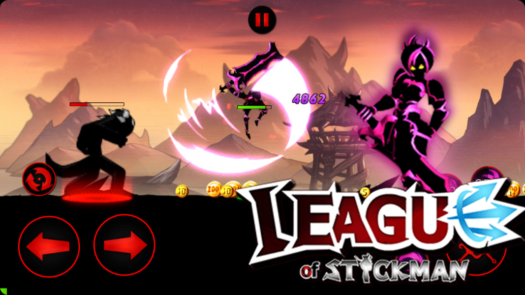 League of Stickman Free - Shadow для Android Экшны, шутеры - league-of-stickman-free-3.1.1-8