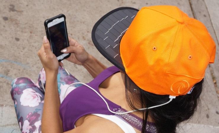 Бейсболка SolSol для зарядки смартфонов Другие устройства  - 045de2c9358e9723979cdd2c887c9b07