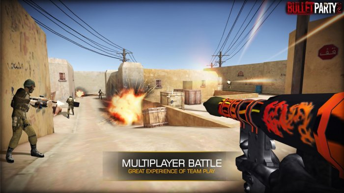 Bullet Party CS 2 : GO STRIKE для Android Экшны, шутеры - 3_700x392