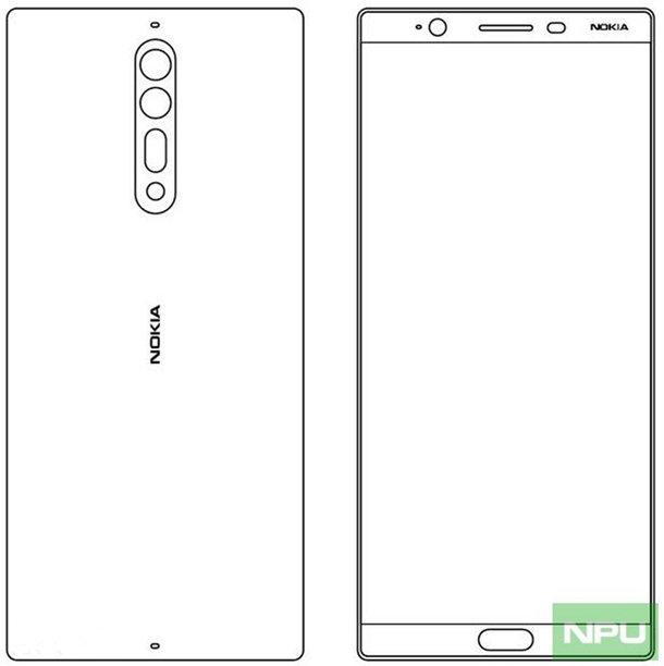 Эскизы новых смартфонов Nokia 8 и Nokia 9 Другие устройства  - nokia-8-schematics