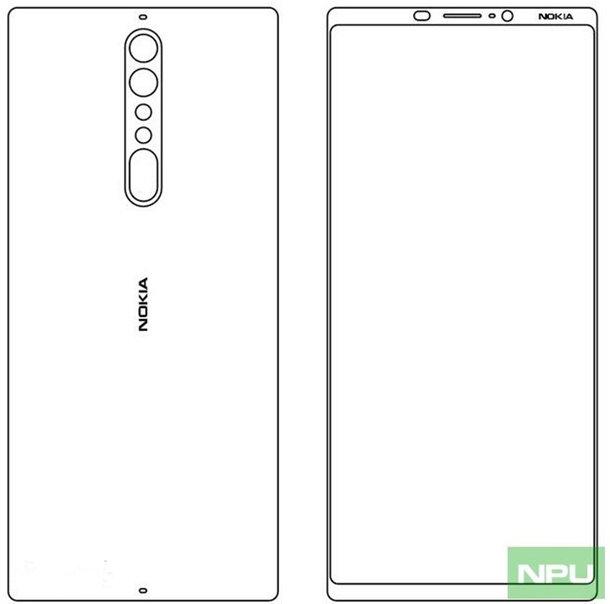 Эскизы новых смартфонов Nokia 8 и Nokia 9 Другие устройства  - nokia-9-schmatics