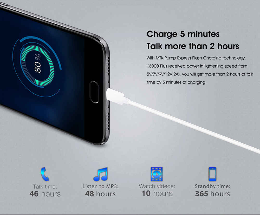 Распродажа смартфонов Oukitel K6000 Plus Other - 1490696434127640