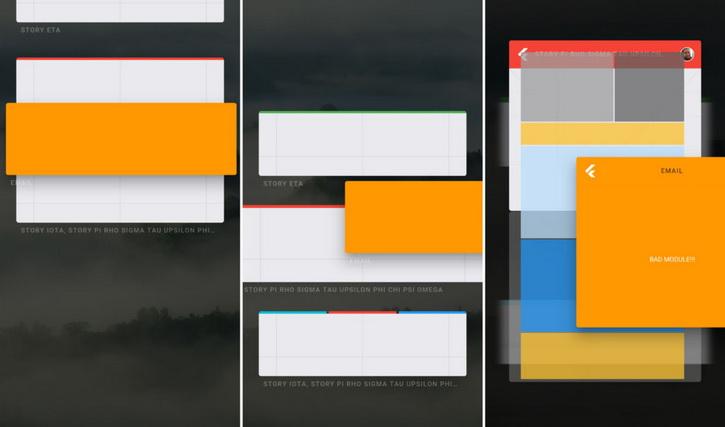 Пользовательский интерфейс секретной системы Google Fuchsia Мир Android  - fuchsia_02