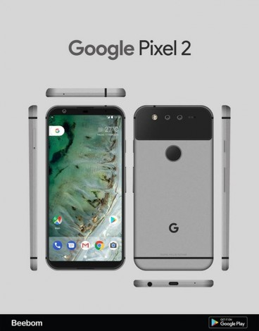 Появились первые вероятные рендеры Google Pixel 2 Другие устройства  - 508541