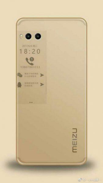 Рендеры и фото Meizu Pro 7 с дополнительным экраном Meizu  - meizu_pro_7_renders_05-1