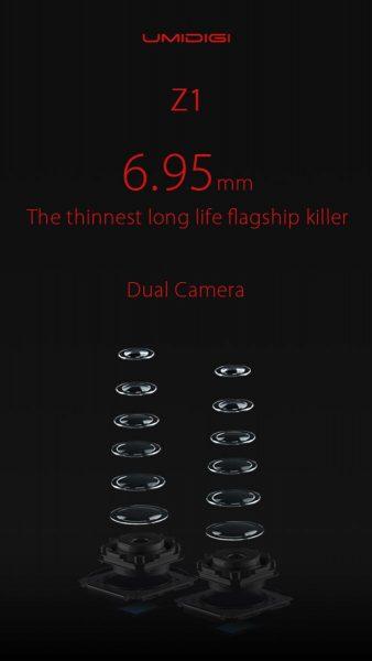 UMIDIGI Z1 будет иметь AMOLED-дисплей и двойную камеру Другие устройства  - umidigi-z1-dual-camera