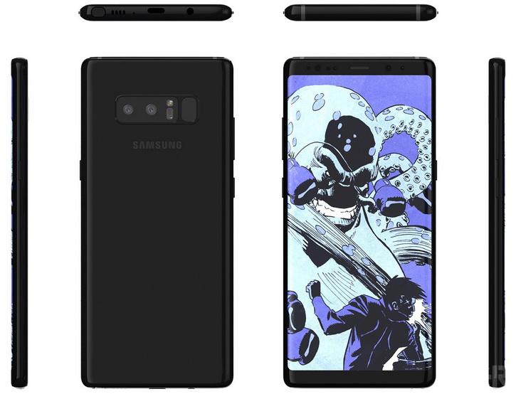 Рендеры финального стилизованного дизайна Samsung Galaxy Note 8 Samsung  - galaxy_note_8_renders_03