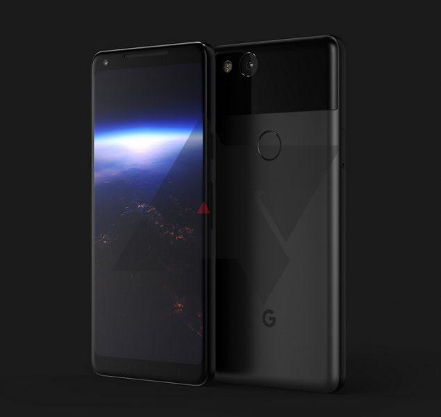 Реальный рендер Google Pixel XL 2. Безрамочный OLED-экран Другие устройства  - pixel_xl_2_render_resize
