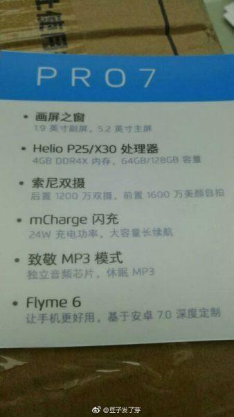 Неожиданное подтверждение характеристик Meizu Pro 7 Meizu  - pro_7_specs_01