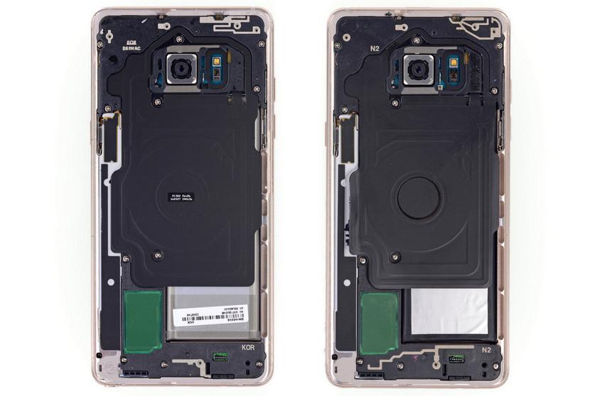 Galaxy Note Fan Edition - это тот же Note 7, но с меньшей батареей Samsung  - samsung-galaxy-note-fan-edition-ifixit-2