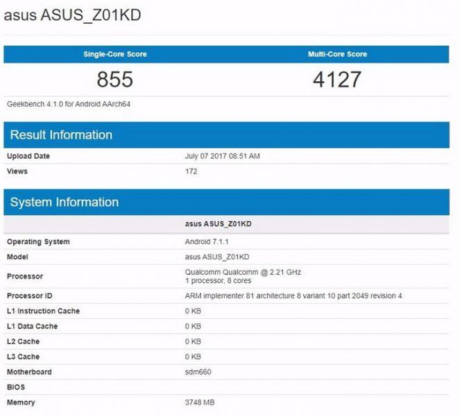 Geekbench пополнился новеньким ASUS Zenfone 4: базовые характеристики Другие устройства  - zenfone_4_geek