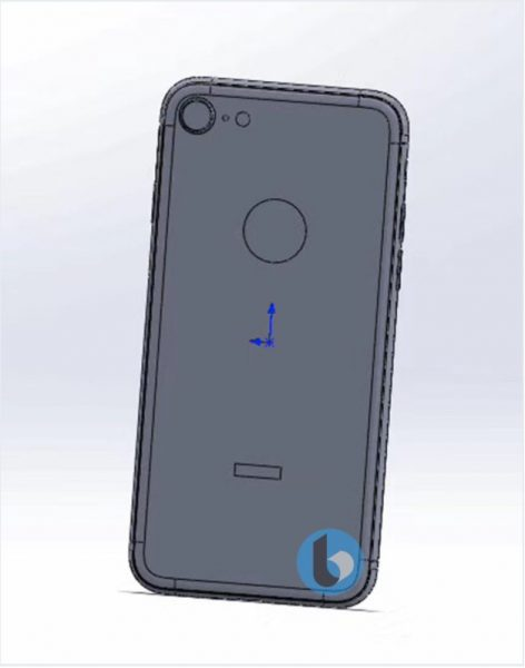 Чертежи финального дизайна смартфонов iPhone 7S и 7S Plus Apple  - iphone_7s_cad_01