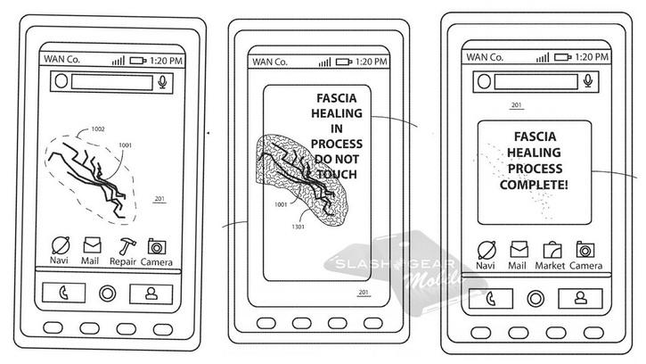Motorola патентует необычную технологию для дисплея Другие устройства  - motorola_selfrepair_01