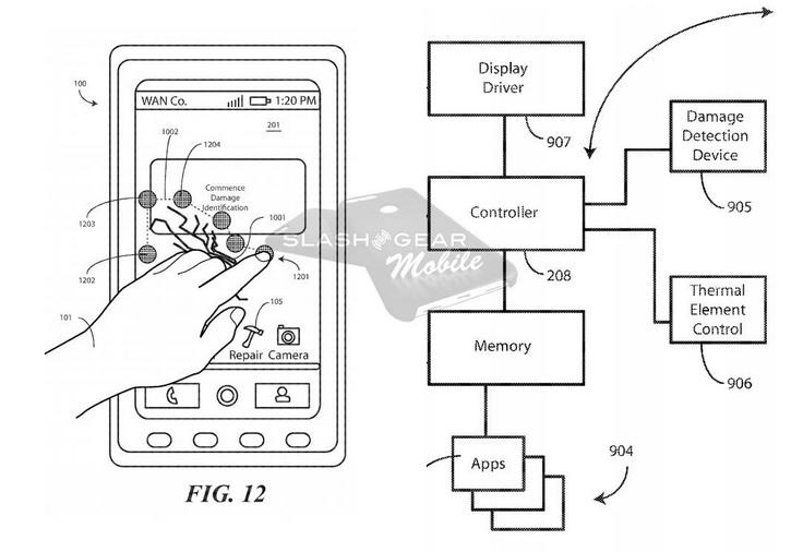 Motorola патентует необычную технологию для дисплея Другие устройства  - motorola_selfrepair_02