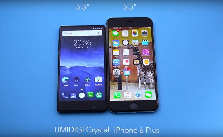 UMIDIGI Crystal и сравнение с iPhone 6 Plus. Официальное видео Другие устройства  - umidigi_crystal_live_04