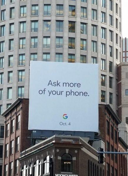 Необычный билборд с датой анонса Google Pixel 2 и Pixel 2 XL Другие устройства  - google-pixel-2-event-date