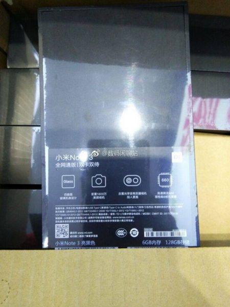 Упаковка Xiaomi Mi Note 3 подтверждает наличие Snapdragon 660 Xiaomi  - mi_note_3_box_02