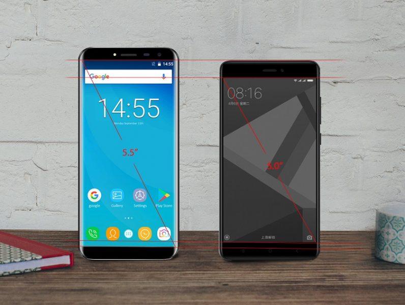 Новый безрамочный OUKITEL C8 против Xiaomi Redmi 4X Xiaomi  - oukitel-c8-2