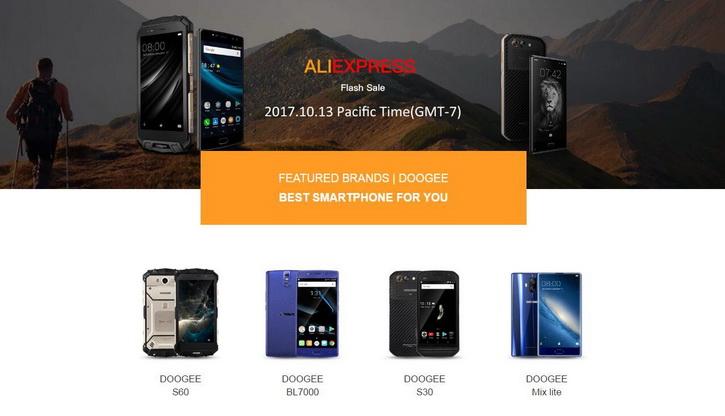 Doogee S60, S30, BL7000 и MIX Lite с большой скидкой на AliExpress Другие устройства - doogee_sale_aliexpress