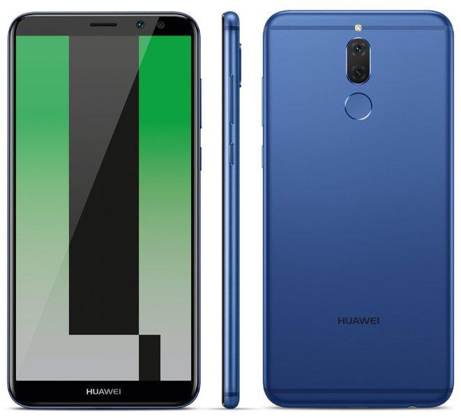 Huawei Mate 10 Lite в синем цвете. Новый рендер Huawei  - mate_10_lite_render-1