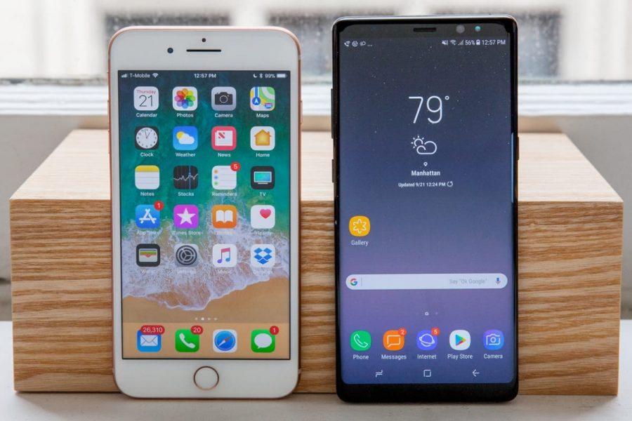 Цены на два лучших флагмана 2017 снизились в России Apple  - samsung-galaxy-note-8-iphone-8-plus-0-1