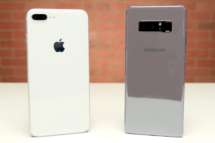 Цены на два лучших флагмана 2017 снизились в России Apple  - samsung-galaxy-note-8-iphone-8-plus-7-1
