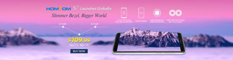 HOMTOM продает безрамочный смартфон всего за 100 долларов Другие устройства  - s7_1920x500.-750