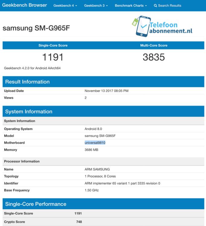 Стали известны шокирующие характеристики Galaxy S9 Samsung  - samsung-s9.-750