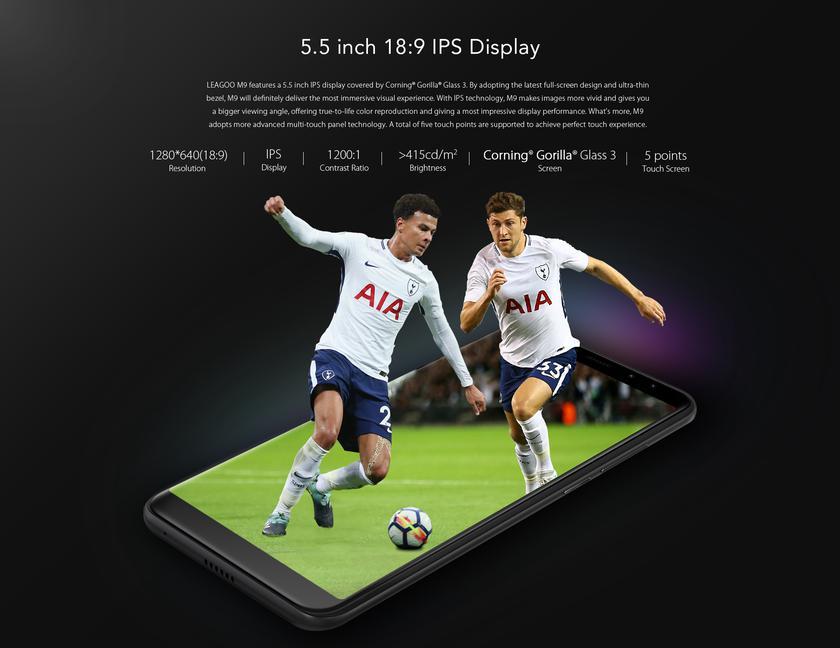 Скидка 20% на смартфон LEAGOO M9 с четырьмя отличными камерами Другие устройства  - 5aa2b72b2826016c2cb5323a49ed415c