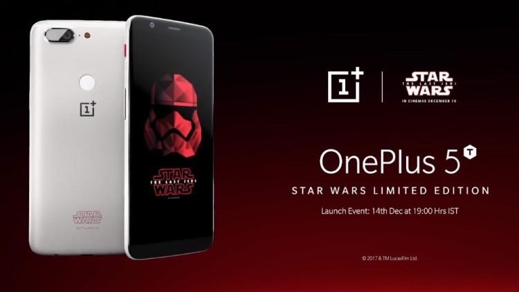 OnePlus представила замечательный 5T для фанатов «Звёздных войн» Другие устройства - oneplus-5t.-750-1