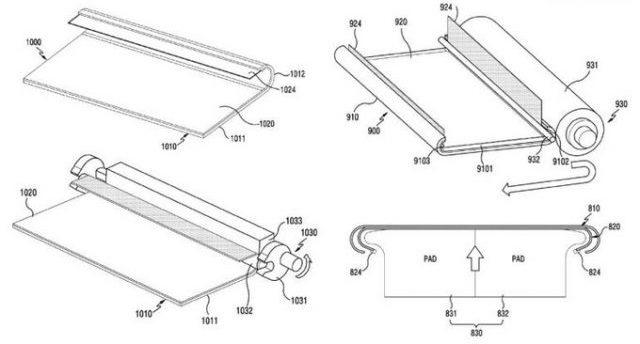 Samsung с максимально загнутыми краями дисплея - правда или ложь? Samsung  - samsung-patent-1-640x393
