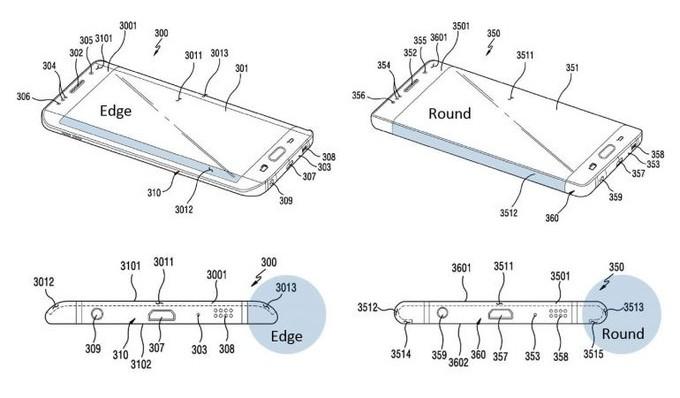 Samsung с максимально загнутыми краями дисплея - правда или ложь? Samsung  - samsung-patent