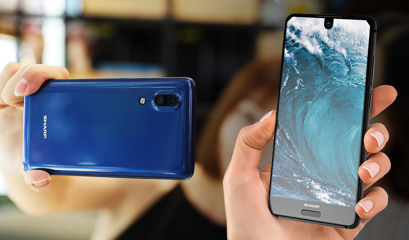 Sharp хочет выпустить самый безрамочный мобильный гаджет Другие устройства  - sharp-bezell-less-record-2018
