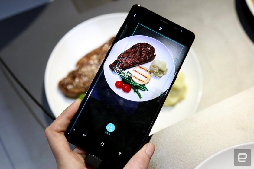 CES 2018: Samsung обучает помощник Bixby считать калории в еде Samsung  - galaxy-samsung-bixby-calories-count-app