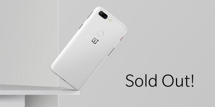 Первую партию белого OnePlus 5T Sandstone White раскупили всего за пару часов Другие устройства  - oneplus_5t_white_sold