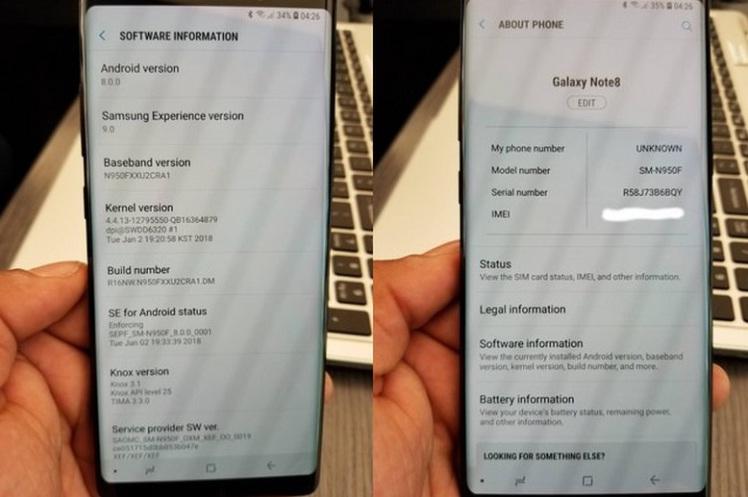 Samsung Galaxy Note 8 вовсю начали обновляться до новенькой версии Android 8.0 Oreo Samsung - oreo